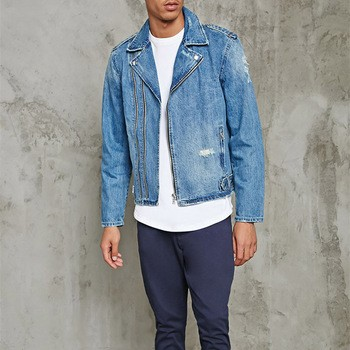 8e2e0dbbe9 Other Products and Mens Denim Moto Jacket Cotton Zip Up Denim Jacket ...