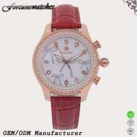 fashion ladies leather wrist watches