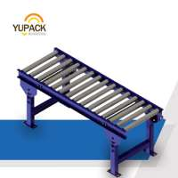 Industrial roller conveyor systems without powermanual roller conveyor