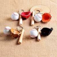 Christmas gifts simulation baseball key chain volleyball keyring a variety of ball gifts  Manufacturer