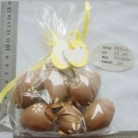 easter brown plastic simulation egg
