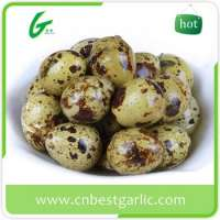 Brown fresh quail eggs