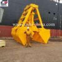 Wireless Remote Control Grab Bucket Deck Crane Manufacturer