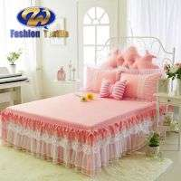 Orange king size aeelastic colored bed skirts dust ruffles Manufacturer