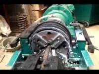 Rebar thread rolling machines