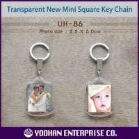 Mini Square Acrylic Photo Key Chain Manufacturer