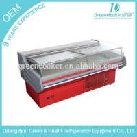 25 meters open display fresh meatseafood freezer showcase Manufacturer