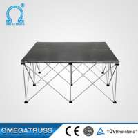 3002000mm height plywood clear wedding stage Manufacturer