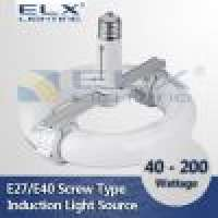 40W 60W 80W 100W 120W 150W 200W E27E40 screwed design Induction Lamp Round Tube Light Source Manufacturer