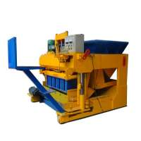 Concrete and sand egg laying block making machine