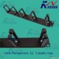 "19"" cable management 5 plastic Drings Manufacturer"