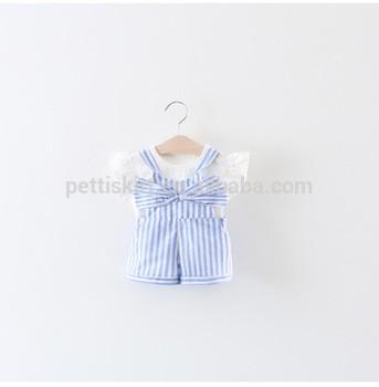 de0cf9761 baby soft cotton shirt matching suspender short pants little girl children