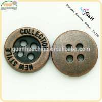 antique copper color metal button  Manufacturer
