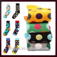 Comfortable Dots Happy Socks Mens Dress Socks CottonBlend Dress Socks Unisex  Manufacturer
