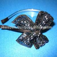 hairband of large ribbon of blue beaded Manufacturer