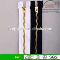 5 metal brass zipper