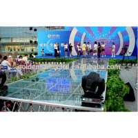 Outdoor event plexiglass acrylic wedding stage collapsable risers Manufacturer