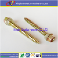 Yellow Passivated Hex Head Rubber Washer Type 17 Roofing Screws  Manufacturer