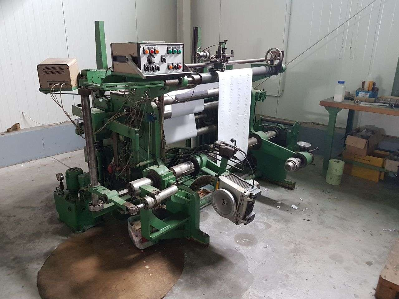 used used slitter and rewinder for thermal paper rolls, cash register rolls