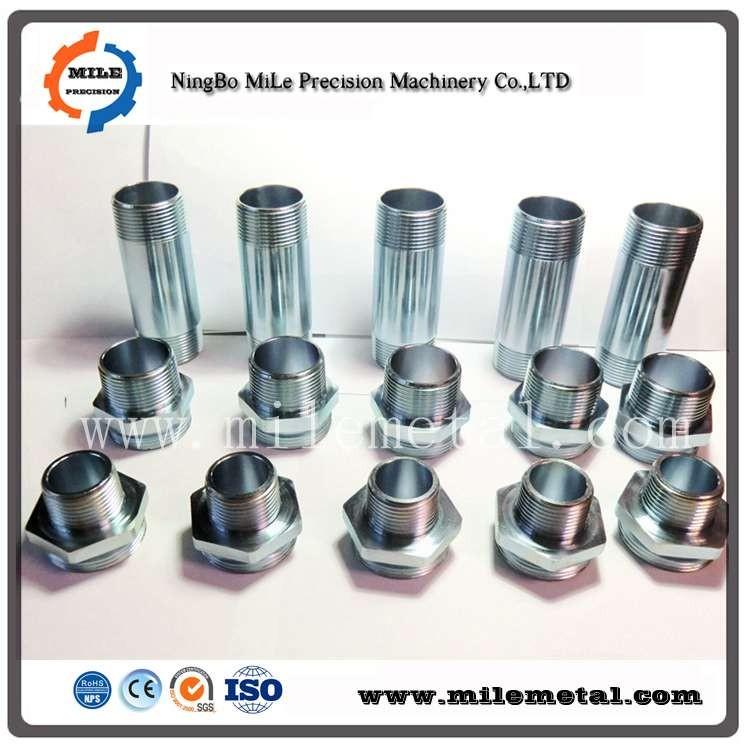 Galvanized threaded pipe joint, hexagonal welded threaded tube
