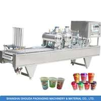 Automatic KetchupSyrupSoy milkJuice Plastic Cup Filling and Sealing Machine