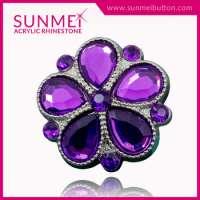 Acrylic Rhinestone Buttons Garment Manufacturer