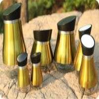 glass spice jar golden metal stand  Manufacturer