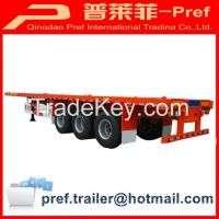 3 axles 40ft platform container trailer Manufacturer