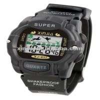 Customized simple digital sports black colour wrist watch man Manufacturer