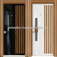 steel armored wood panel door design single main door design
