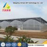 Agriculture commercial gutter connected MultiSpan blackout glass solar greenhouse in  Manufacturer