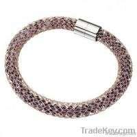 Stainless steel mesh crystal bracelet Manufacturer