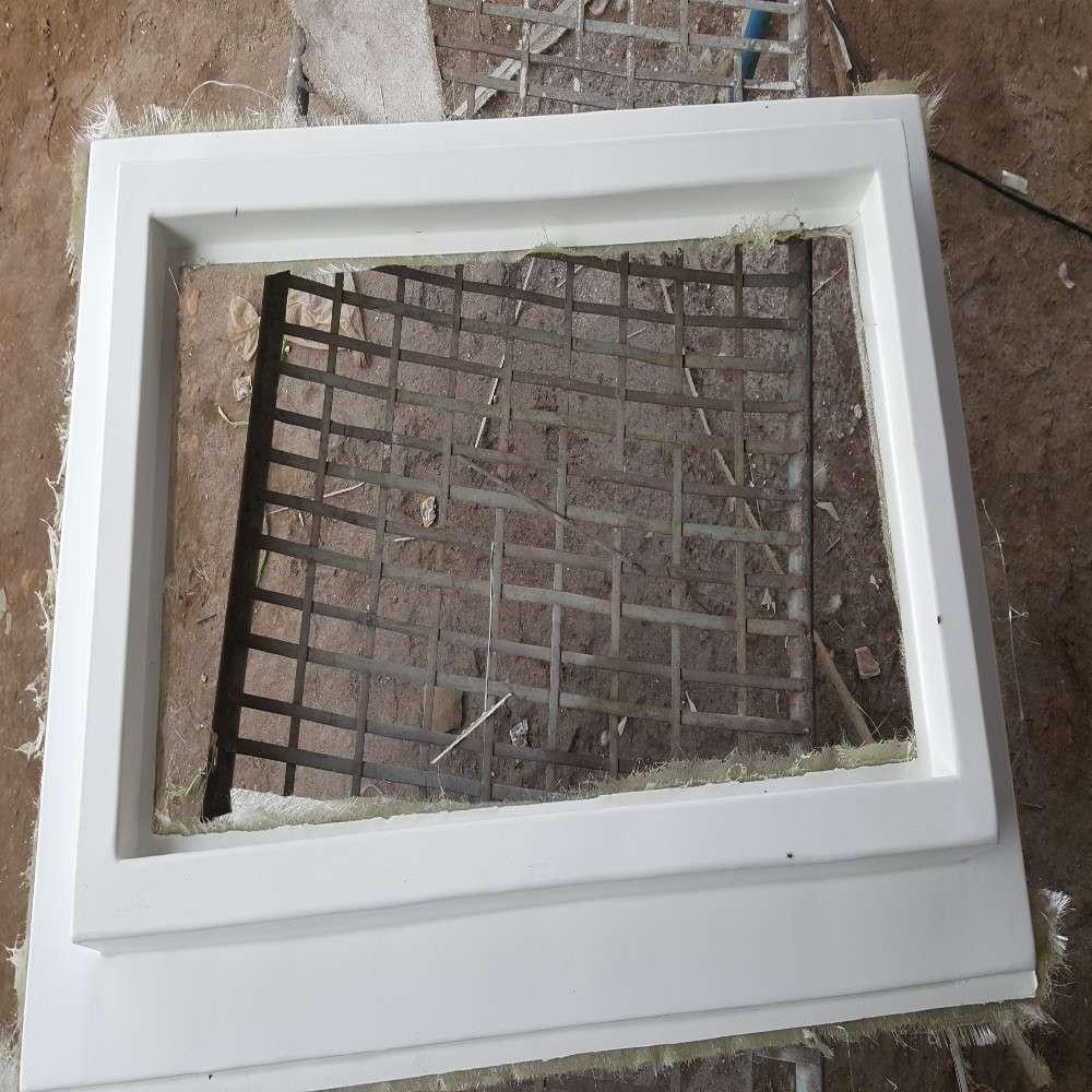 Fiberglass Concrete shed Roofing Curb Size 4' x 4'