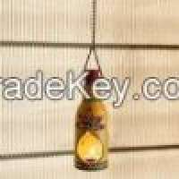 Hanging bottle shaped tea light holder Manufacturer