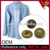 Customized metal embossed snap garment buttons  Manufacturer