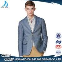 Vintage blue men slim fit suits Manufacturer
