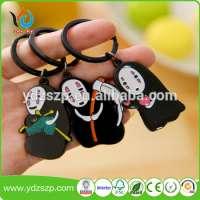 Soft rubber pvc key chain car keychain plastic silicon rubber keychain