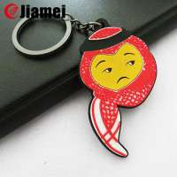gifts plastic cartoon silicon key chain rubber pvc keychain Manufacturer