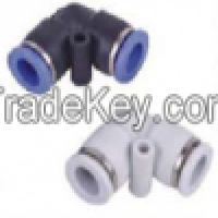 pneumatic plastic push in PUL union elbow air connector Manufacturer