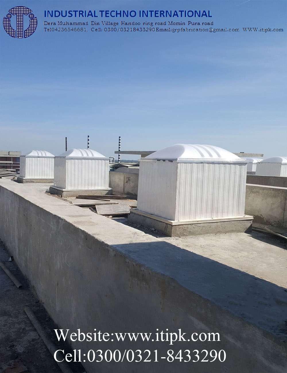 Fiberglass roofing Curb concrete roof,  Size 4' x 4' x 4'