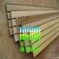grooved wooden sound insulation board wall and  Manufacturer