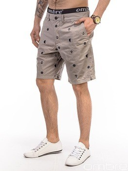 3fe95608ee OMBRE cotton beige bermudas shorts embroidered pattern men clothing