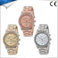 Cheaper Watch Women Geneva Quartz Watches Women Analog Wristwatches Crystal Women Steel Watch GW001 Manufacturer