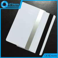 Credit Card Size cr80 contactless smart pvcplastic card chip and magnetic stripe