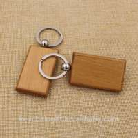 gifts square wooden keychain blank keyring  Manufacturer