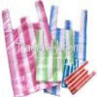 Striped vest carrier bags Manufacturer