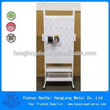 floor metal wire beverage corner display stand