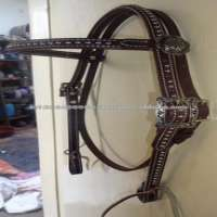 Western Headstal Dots & Concho Brown Leather Manufacturer