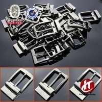 designer black reversible belt buckle