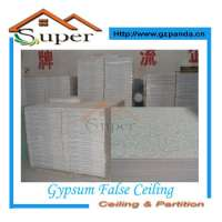 Indoor gypsum false ceiling tiles Manufacturer